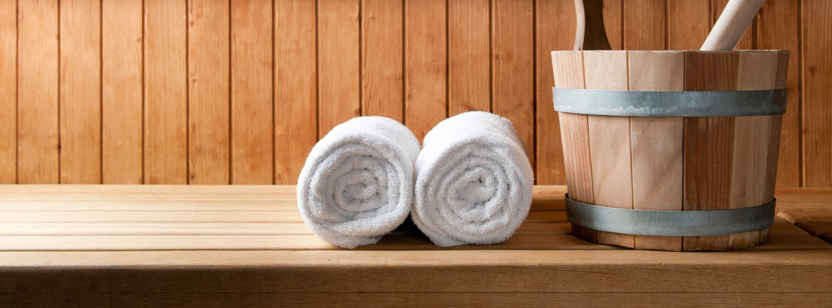Relax in our warm sauna...